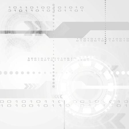 Abstract grey engineering tech background. Vector design Vector
