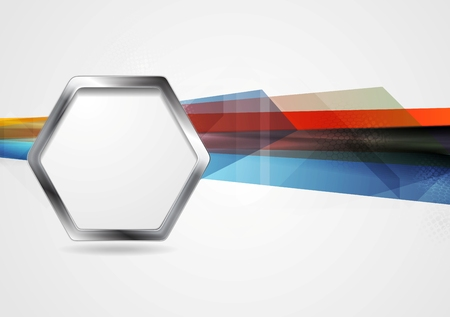 artistic background: Hi-tech background with metal hexagon shape. Vector design template Illustration