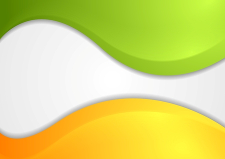 Colorful shiny waves background. Vector design Vector