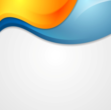 bend: Vibrant shiny waves design. Vector background