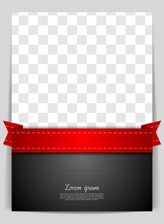 red tape: Abstract vector background with red ribbon