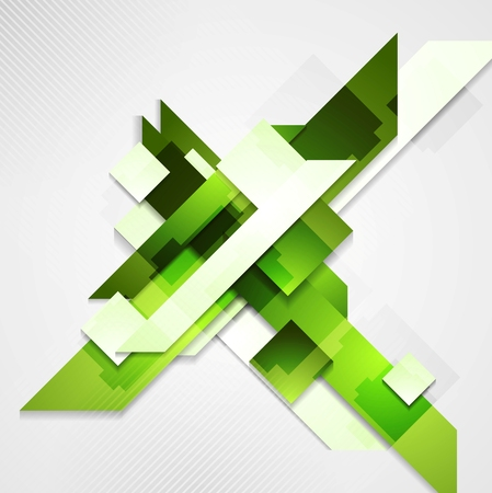 Shiny technical green background. Vector design
