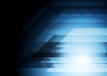 Dark blue technology background. Vector design