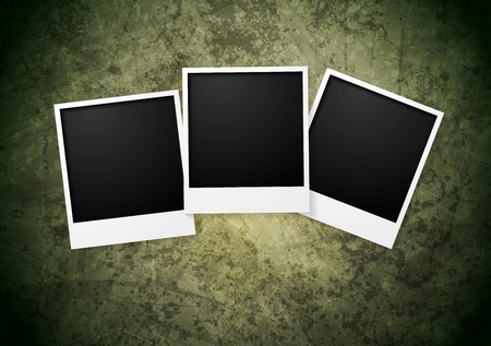 frame on grunge wall background.  Vector