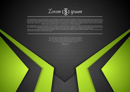 green: Vibrant công ty nền trừu tượng. Hình minh hoạ