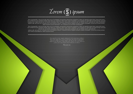 green and black: Vibrant corporate abstract background.