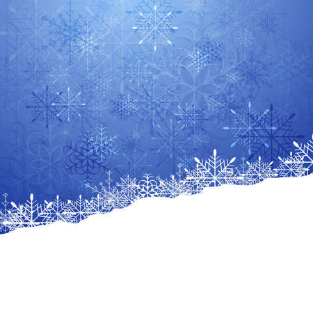 christmas cover: Christmas blue background with snowflakes