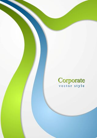 Corporate wavy abstract background. Vector design