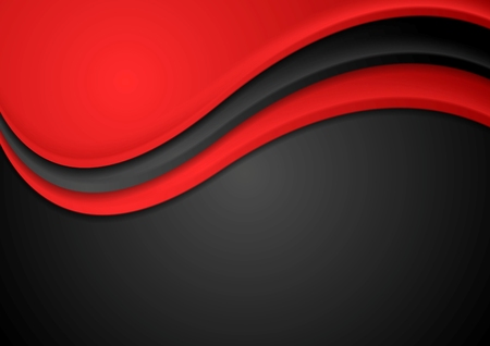 iridescent: Abstract red and black wavy background. Vector design