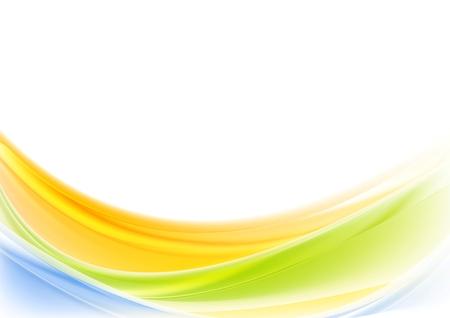 Coloré vagues brillantes conception. Vecteur de fond