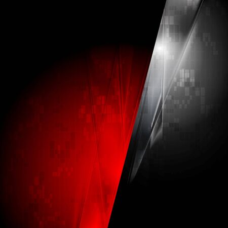 Tech red and black contrast background. Vector design Vector