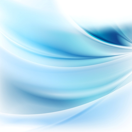 Bright blue abstract waves background. Vector design Illustration