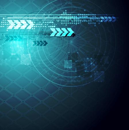 vision concept: Abstract blue hi-tech background. Vector design