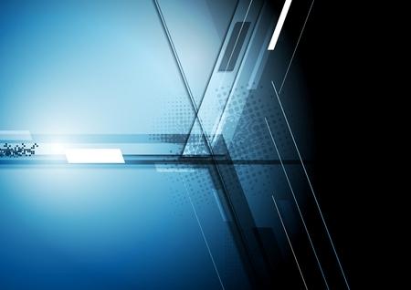 기술 어두운 회사 배경입니다. 벡터 디자인 일러스트