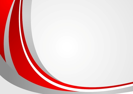 Abstract red and grey wavy background. Vector design