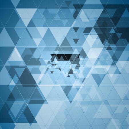 Bright blue tech futuristic triangles design. Vector background Vector