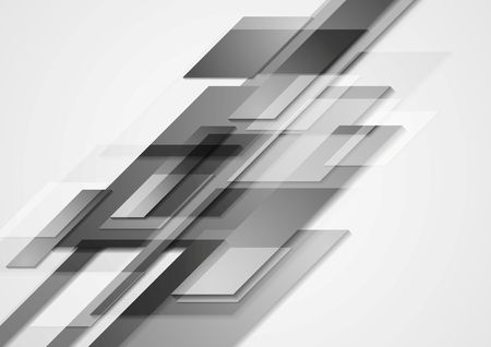 Grey hi-tech motion design. Vector background Vector
