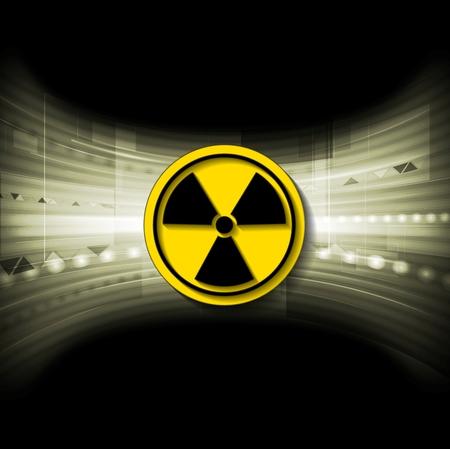 radioactive symbol: Fondo de la tecnolog�a con el s�mbolo radiactivo. Ilustraci�n vectorial Vectores