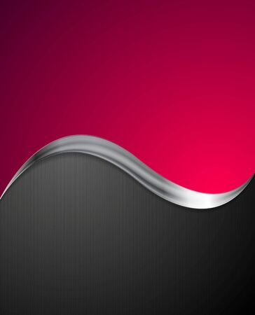 crimson: Crimson abstract background with metal wave. Vector design
