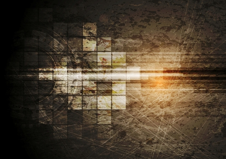 Grunge tech background. Vector design Illustration