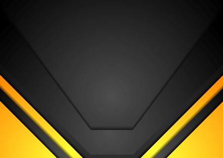 amarillo y negro: Amarillo y negro arte corporativo fondo. Diseño vectorial