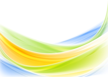 Bright colorful shiny waves design. Vector background