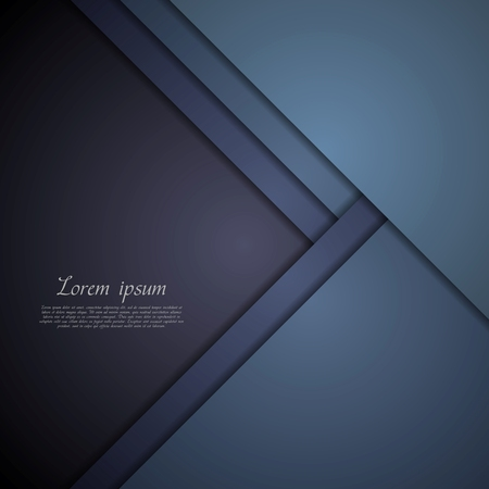 background cover: Dark blue corporate tech art. Vector background
