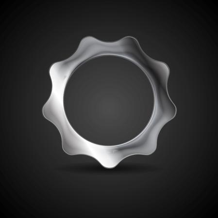 Metal gear. Steel cogwheel. Vector illustration Vector