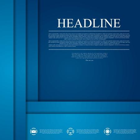 Donkerblauw zakelijke tech kunst. Vector achtergrond