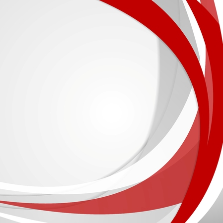Abstract red wavy corporate background. Vector design 向量圖像