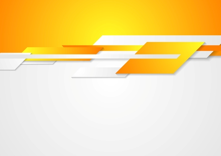 Bright  design. Geometric shapes on white and orange background