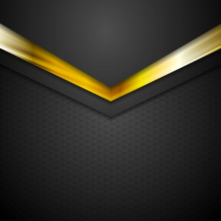 Technology corporate background with gold color arrows. Vector illustration Vector