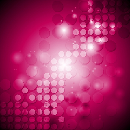 crimson: Shiny crimson tech background with circles. Vector illustration