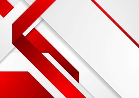 lijntekening: Heldere tech ondernemingen rode en witte achtergrond. Vector ontwerp Stock Illustratie
