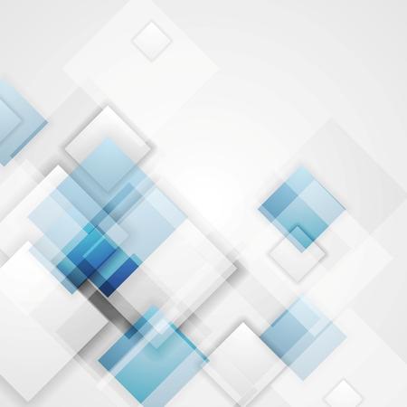Entreprise brillante conception carrés tech. Vecteur de fond Vecteurs