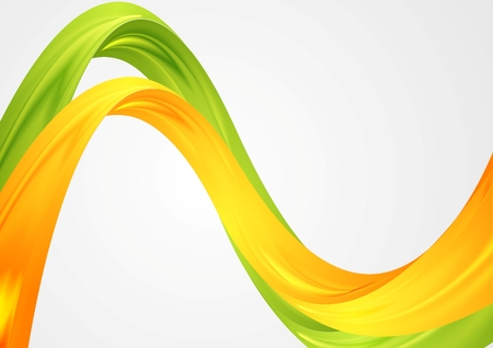 Colorful blurred waves. Vector background Illustration
