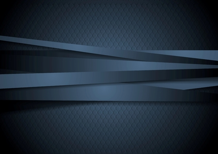 Dark corporate stripes background. Vector design Vectores