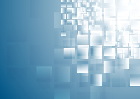 Blue shiny squares tech background. Vector design Vector