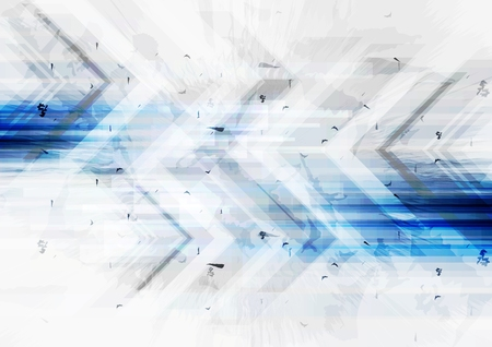 geometric design: Grunge tech background with arrows. Vector illustration Illustration