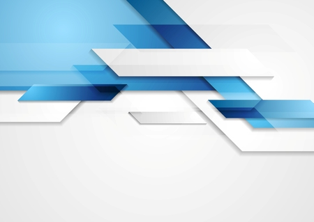technology banner: Blue shiny hi-tech motion background. Vector design Illustration