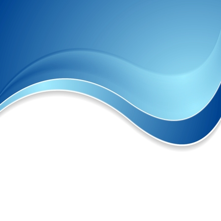 Abstract blue shiny waves background. Vector illustration
