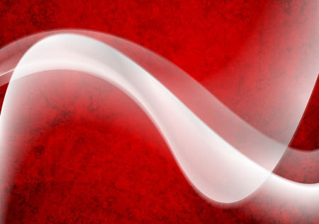 white wave: White wave on red grunge background. Vector design Illustration