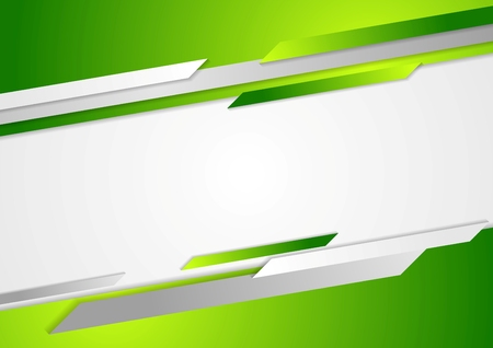 technology banner: Abstract green corporate background. Vector design