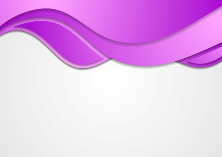 Abstract purple waves corporate background. Vector art design Ilustrace