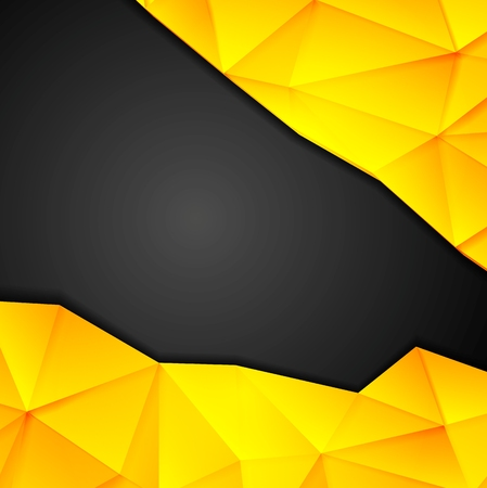 yellow vector: Tech geometry yellow and black background. Vector design template