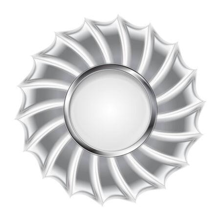 metallic background: Metallic silver logo background. Vector design