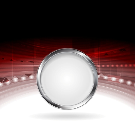 Technology motion design with metal circle frame. Vector background