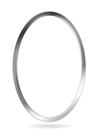 elipse: Acero de metal marco elipse. Resumen de vectores frontera Vectores