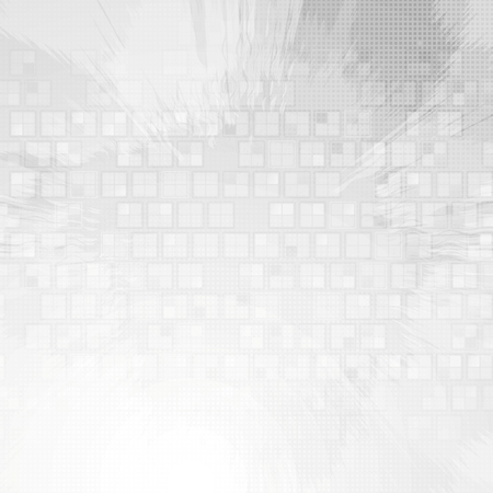 Light grey tech grunge background. Vector design Çizim
