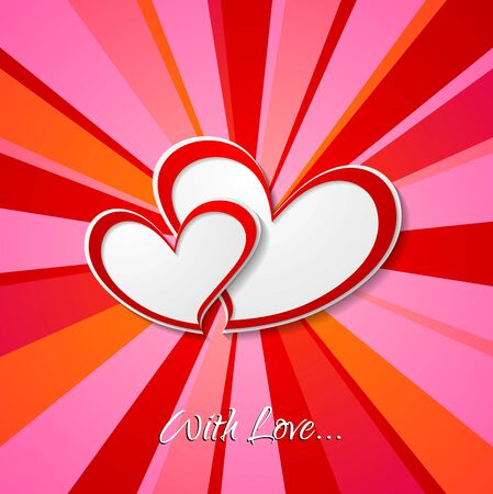 Valentine Day background with hearts. Vector romance design Vector